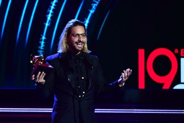En noviembre del 2018 el colombiano Maluma recibió el Latin Grammy a mejor álbum pop vocal. Foto: Archivo/AFP