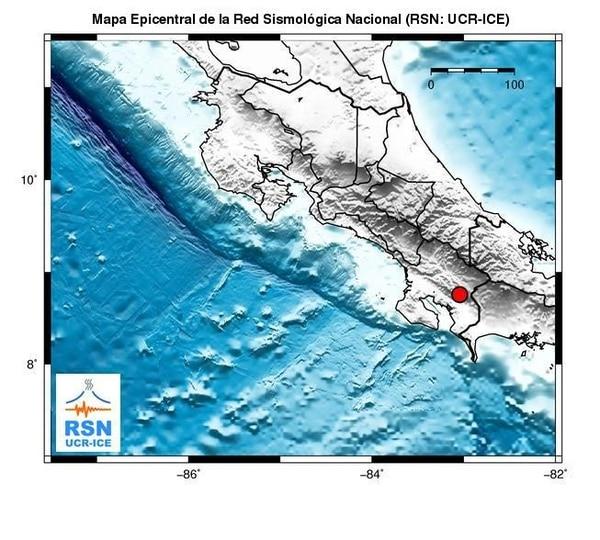 El epicentro se ubicó a 11 kilómetros al suroeste de San Vito de Coto Brus.