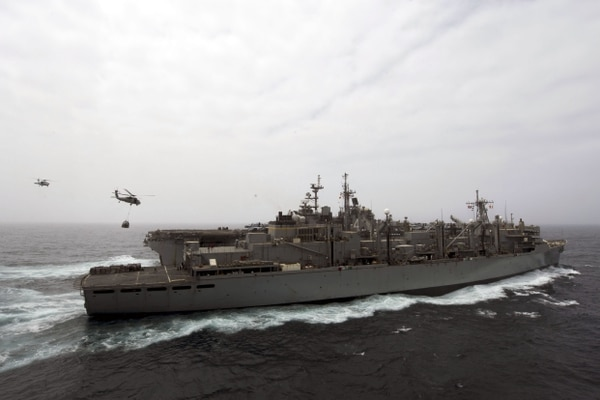 Buque anfibio de asalto USS Boxer desplegado en el golfo Pérsico.