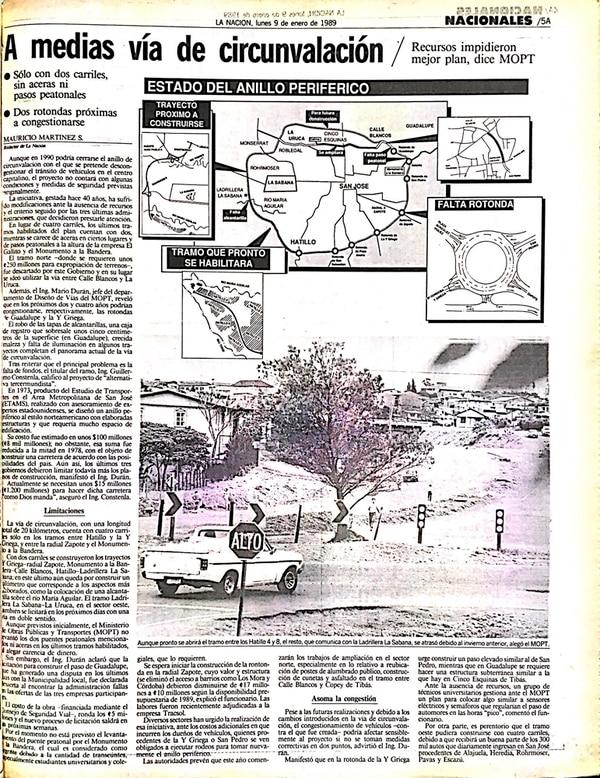 Un reportaje del periodista Mauricio Martínez habla de los planes del gobierno con la carretera de Circunvalación.