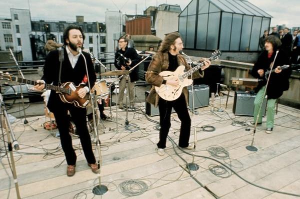 El último concierto de Los Beatles fue en la azotea de la oficina del grupo. Captura de pantalla
