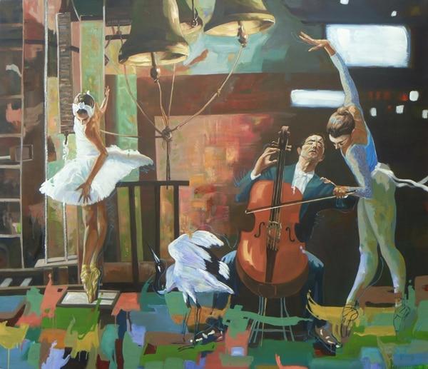 Exposición 'Jazz-danza'. Fotografía: Rodolfo Stanley para LN.