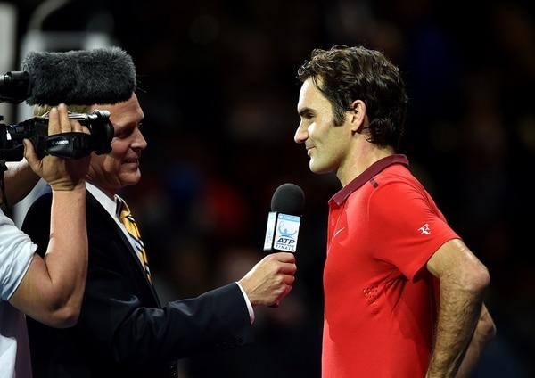 Roger Federer brindó declaraciones a la televisión oficial de la ATP después de vencer a Andy Murray.