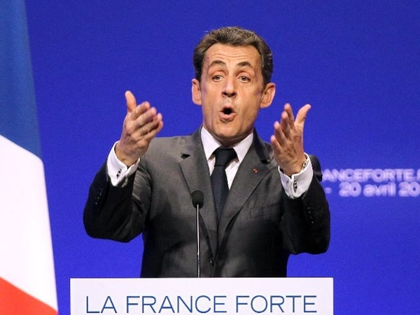 Sarkozy ayer en su último mitin en esta campaña realizado en la ciudad de Niza, al sureste del país. | AFP.