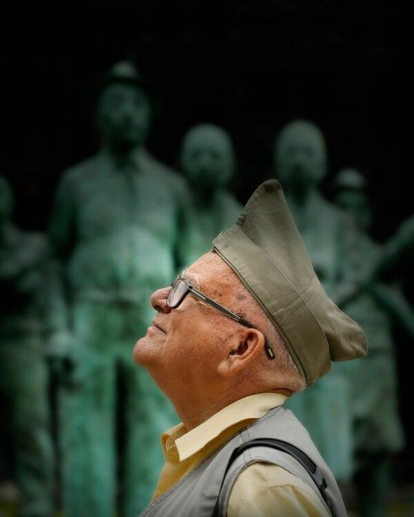 Don Lisímaco Chavarría fue a combatir a los 16 años. También fue parte de la Guerra del 55. Foto: Albert Marín.
