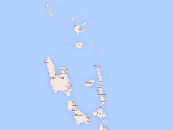 El movimiento ocurrió a 335 kilómetros al norte de la capital, Port Vila.