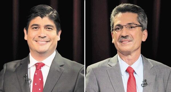 Carlos Alvarado (izq.) y Welmer Ramos se enfrentarán este domingo por la candidatura presidencial del Partido Acción Ciudadana. Ambos fueron ministros durante la administración de Luis Guillermo Solís.