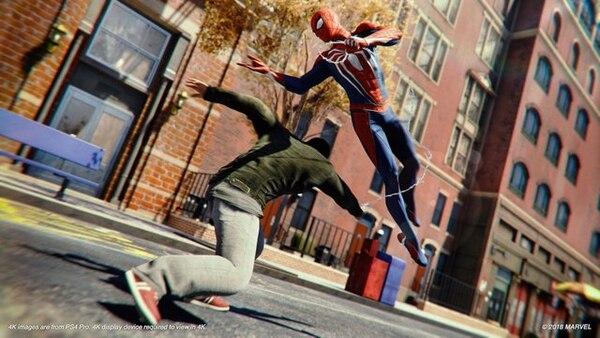 El combate es uno de los puntos altos de esta experiencia electrónica. Spider-Man se enfrentará a distintos criminales y los hará pagar con los puños. Cortesía de Sony,