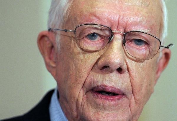 Se desconoce el padecimiento del expresidente Carter.   AFP