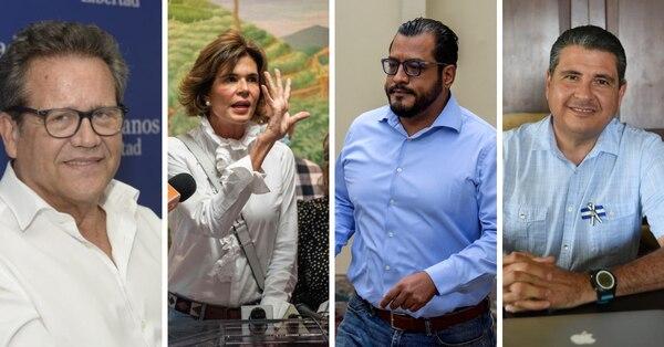 De izq. a der. Arturo Cruz, Cristiana Chamarro, Félix Maradiaga y Sebastián chamorro