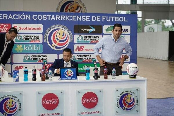 Rónald González, durante su presentación oficial como técnico interino de la Selección Mayor. Fotografía: Cristina Solís.