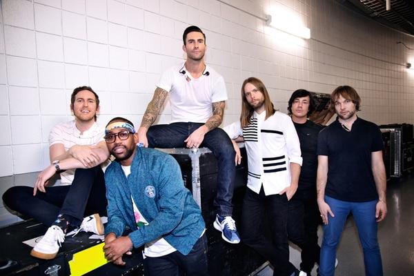 Grandes.Jesse Carmichael, PJ Morton, Adam Levine, James Valentine, Matt Flynn y Mickey Madden conforman la alineación actual de Maroon 5. Cortesía de Move Concerts.