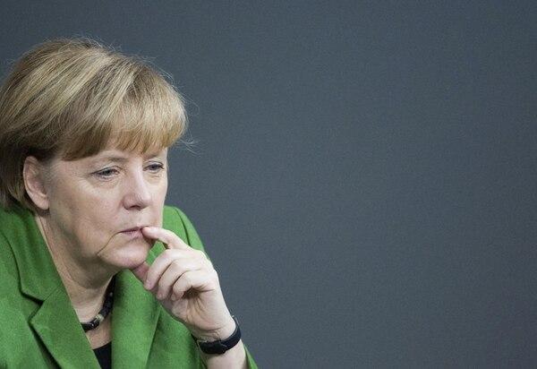 Ángela Merkel, ayer, durante un momento del debate. | EFE