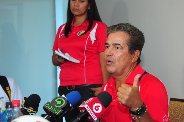 Marvin Caravaca.Esta tarde, el técnico Jorge Luis Pinto atendió a los medios en el Hotel Westin Costa del Este, en Panamá.
