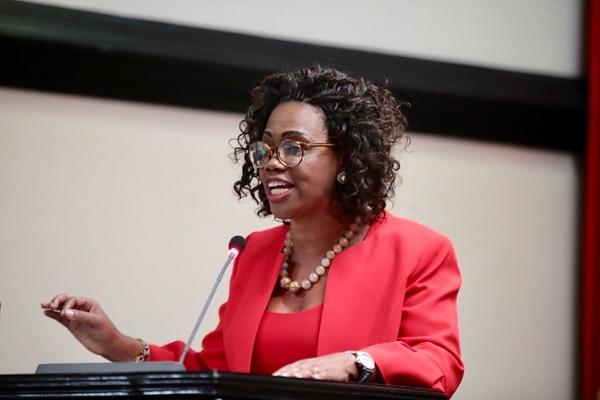 11/12/2018. La vicepresidenta de la Republica, Epsy Campbell, al momento de renunciar como canciller ante el plenario de la Asamblea Legislativa. Foto: Graciela Solis