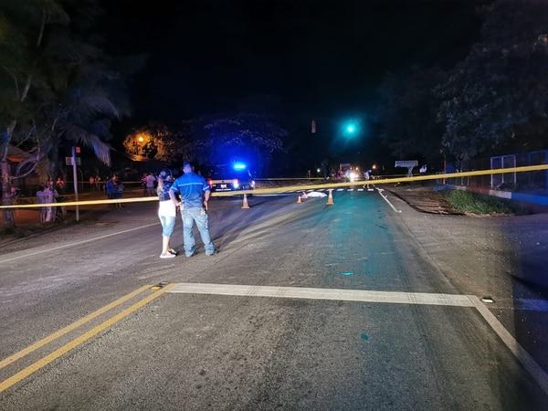 El accidente se registró en Juntas de Pacuar de Daniel Flores, en Pérez Zeledón. Foto: Mario Cordero, corresponsal GN