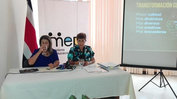 La medida fue anunciada por la ministra de Educación, Sonia Marta Mora, y la viceministra académica, Alicia Vargas.