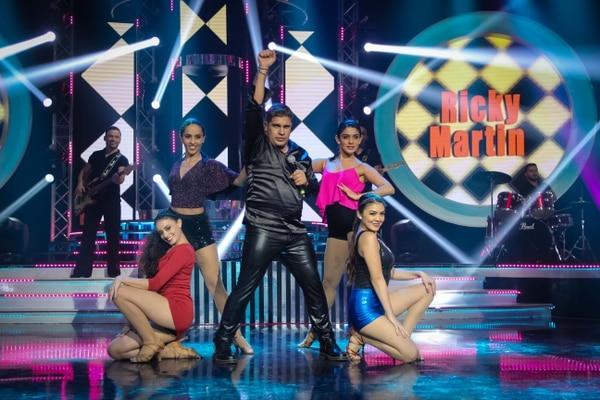 Rigoberto Alfaro se transformó en Ricky Martin. Cortesía de Teletica Formatos /Rodrigo Alfaro.