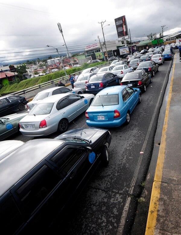 El 8 de julio los porteadores bloquearon vías. | JOHN DURÁN