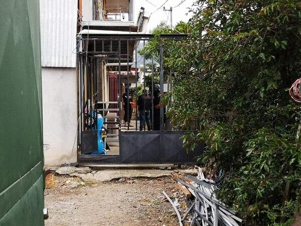 La captura fue durante un allanamiento realizado en barrio Nuevo de Tejar de El Guarco, en Cartago. Cortesía OIJ