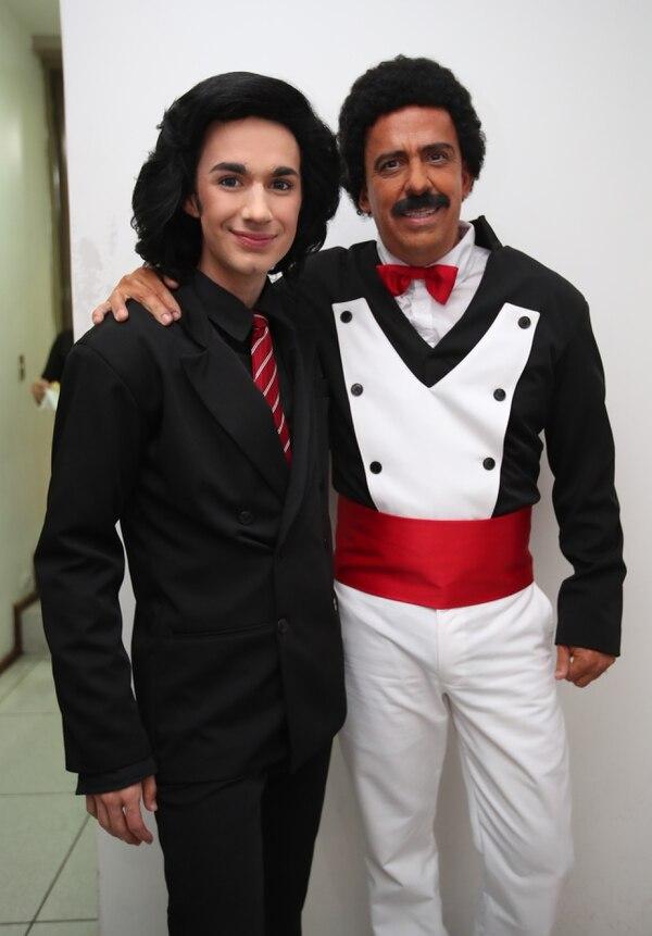 David Nick y Papi Pazz. Ellos interpretaron a Camilo Sesto y Wilfrido Vargas, respectivamente.