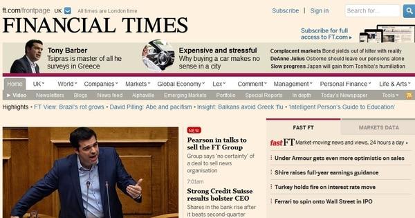 El Grupo FT incluye el periódico Financial Times y su página web, el 50% del semanario The Economist y el periódico local ruso Vedomosti