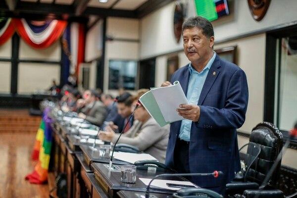18/01/2018, San José, Asamblea Legislativa, sesión del plenario para votar acerca del caso del Cementazo. En la fotografía Victor Morales Zapata PAC. Fotografía José Cordero