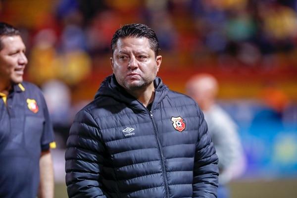 Jafet Soto previo al juego ante Saprissa. Fotografía José Cordero