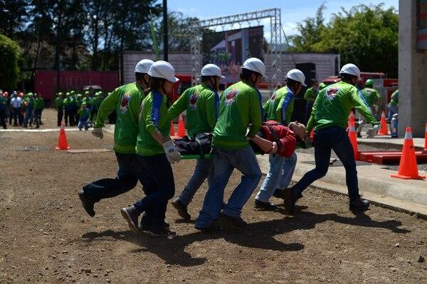 Este sábado, 270 brigadistas de distintas empresas e instituciones públicas y privadas, se dieron cita en las instalaciones de la Academia Nacional de Bomberos, en San Antonio de Desamparados, para participar en el Desafío de Brigadas 2018 Fotografía: Jose Díaz/Agencia Ojo por Ojo