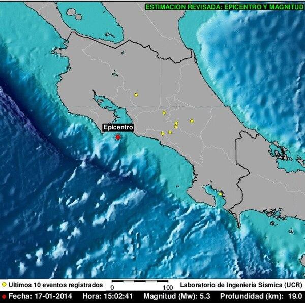 El temblor se originó en el mar a unos 25 kilómetros de Cóbano.