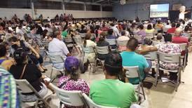 Fuerza Pública detiene asamblea de Coopelesca ante caos y tumultos