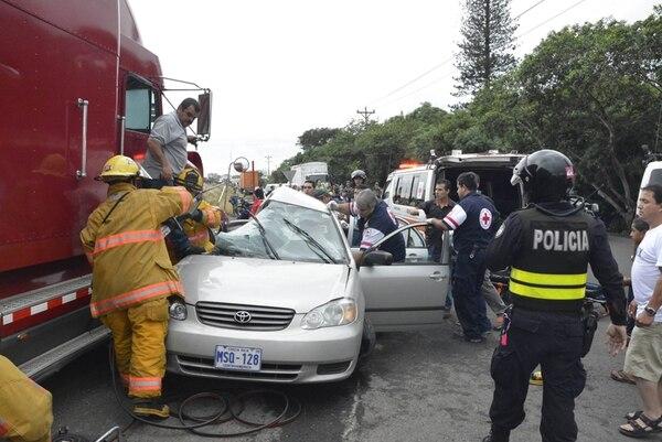 En el accidente fallecieron dos mujeres. | FRANCISCO BARRANTES.