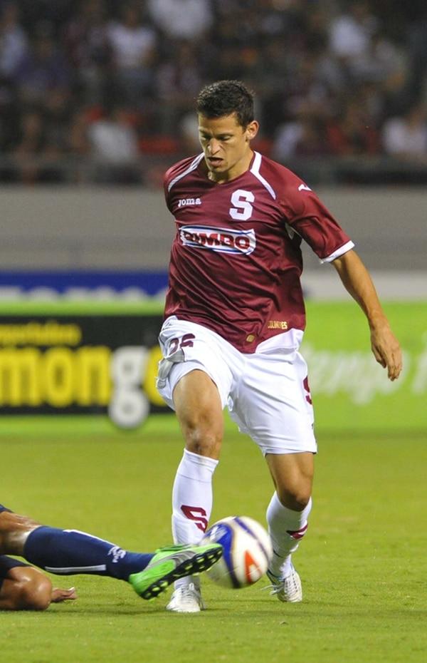 Daniel Colindres en la temporada pasada con Saprissa. | ARCHIVO