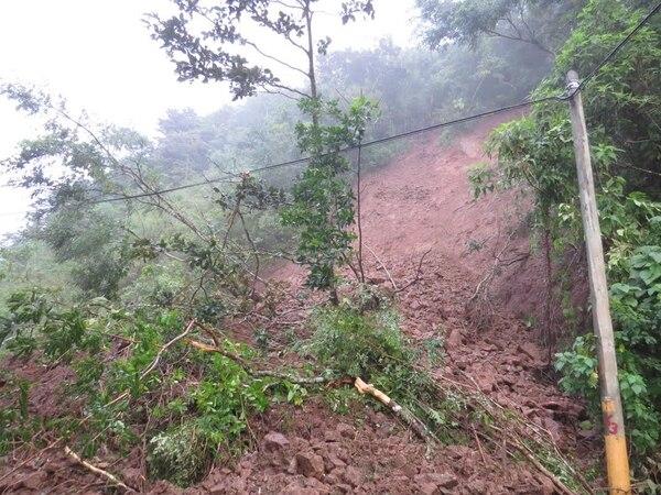 El deslizamiento ocurrió en el sitio conocido como el Tajo.