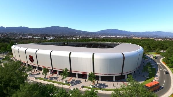 Así luciría el nuevo estadio la Liga Deportiva Alajuelense. Fotografía: Prensa Alajuelense