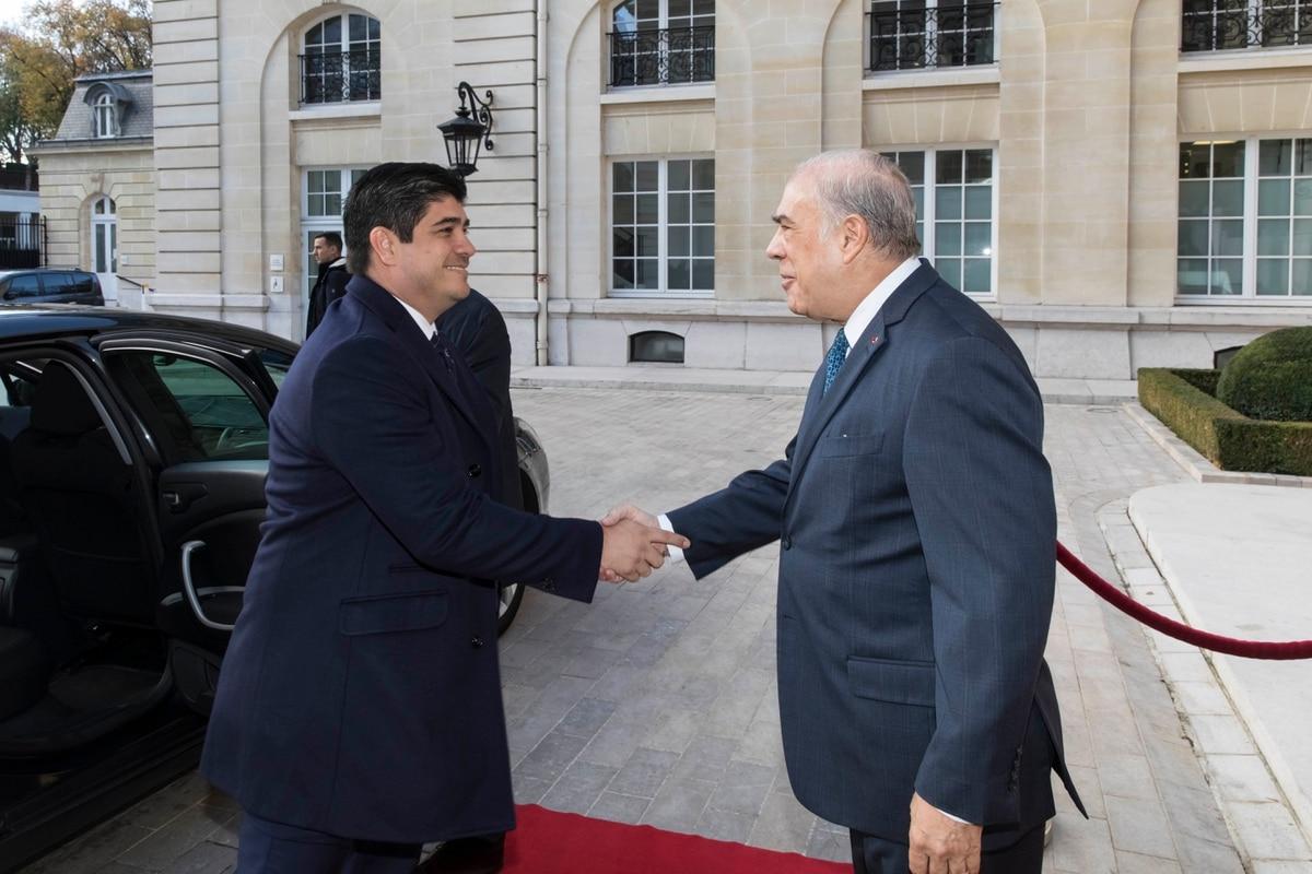 11/2018. El presidente de Costa Rica, Carlos Alvarado, visita al secretario general de la OCDE, Angel Gurria, en París, Francia. Foto: Víctor Tonelli / OCDE.