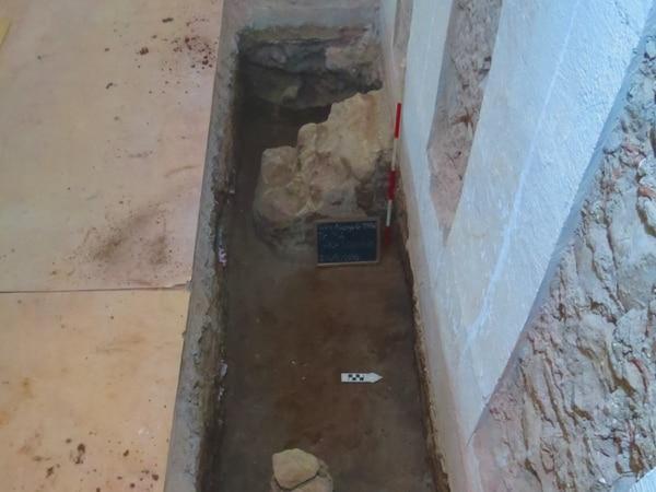 Esta es una de las excavaciones donde se hallaron los cuerpos y otros objetos arqueológicos. Fotografía: Jorge Ramírez, arqueólogo