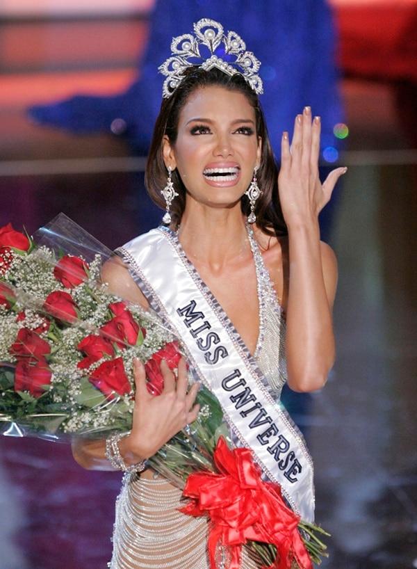 Protesta. Zuleyka Rivera, Miss Universo 2006, no se quedó callada. AP.