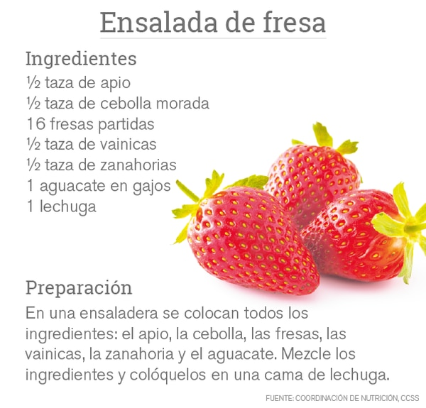 Esta es una de las recetas con fresas que usted puede preparar.