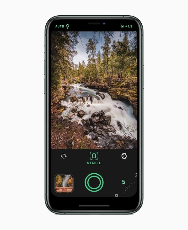 Esta es una 'app' para quienes gustan de tomar fotos con largas exposiciones. Foto: Apple.