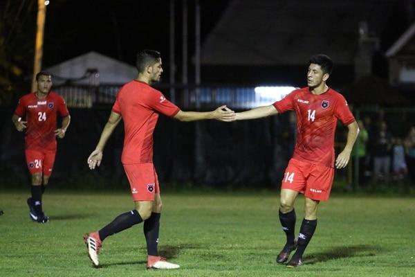 Jonathan Moya hizo dos goles en el colectivo de Alajuelense contra Jacó Rays. Fotografía: Prensa Alajuelense