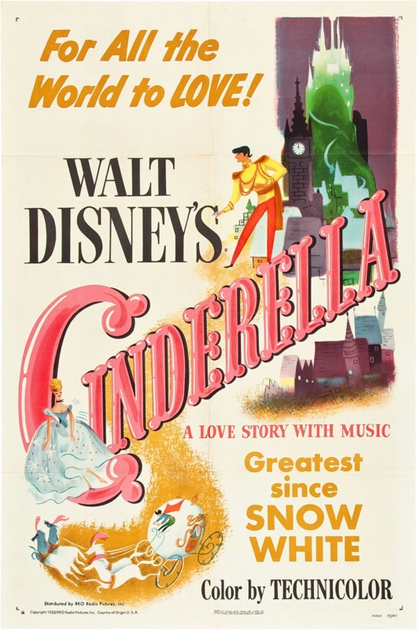 La cinta animada de 'Cenicienta', de Disney, fue estrenada en 1950.