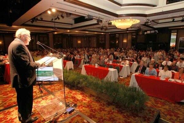 La actividad fue inaugurada a las 10 a. m. por el presidente en ejercicio, Luis Liberman. | PRESIDENCIA PARA LN