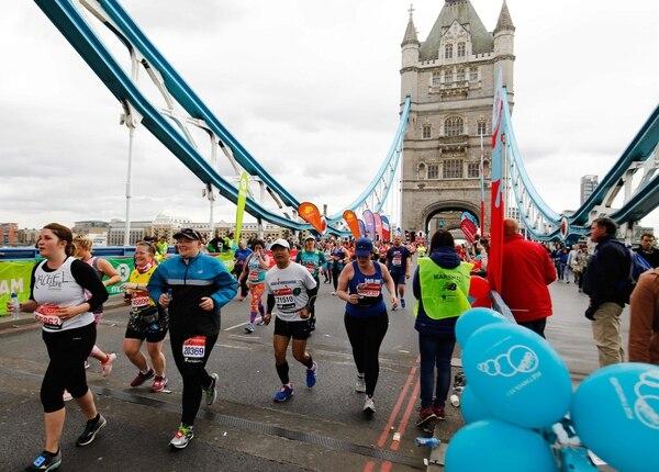 La Maratón de Londres del próximo año también se convertirá en el primer mundial para mayores de 40 años organizado por Abbott World Marathon Majors. Foto: Tolga Akmen, AFP