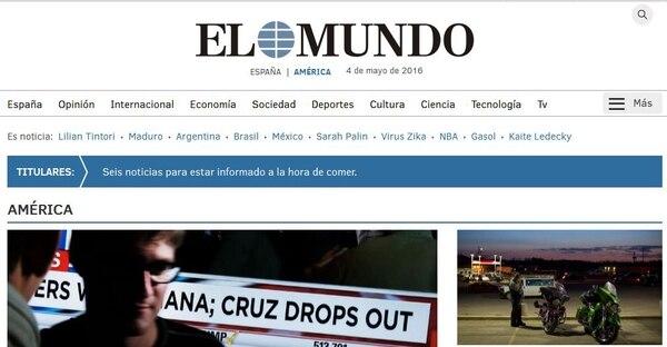 El Mundo vende unos 120.000 ejemplares diarios en España.