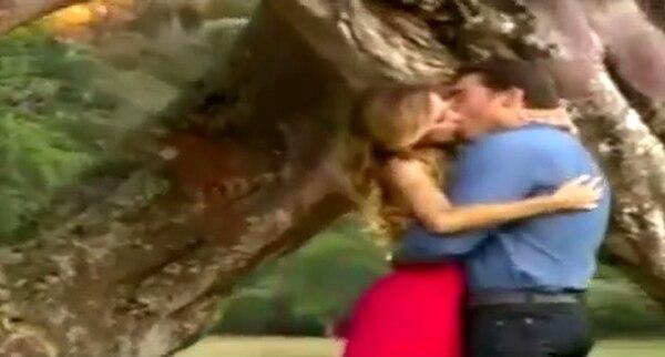 Una de las escenas finales de la telenovela, Amores verdaderos.