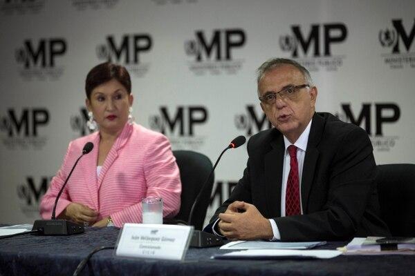 La fiscala general de Guatemala, Thelma Aldana, y el jefe de la Cicig, Iván Velásquez, se refirieron el jueves 19 de abril del 2018 a un nuevo caso de posible uso ilegal de fondos para la campaña que llevó al poder al presidente Jimmy Morales.