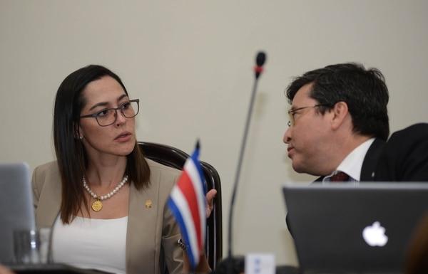 María Inés Solís y Pedro Muñoz, del PUSC, están entre los impulsores del proyecto. CARLOS GONZALEZ/AGENCIA OJOPOROJO.