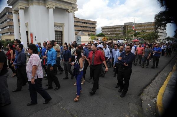 La reforma al Régimen de Pensiones y Jubilaciones del Poder Judicial suscitó una huelga entre los empleados de la entidad. Foto: Diana Méndez.