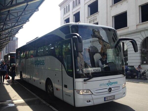 Terminal de autobuses de Belgrado. Fotografía: Jairo Villegas S.
